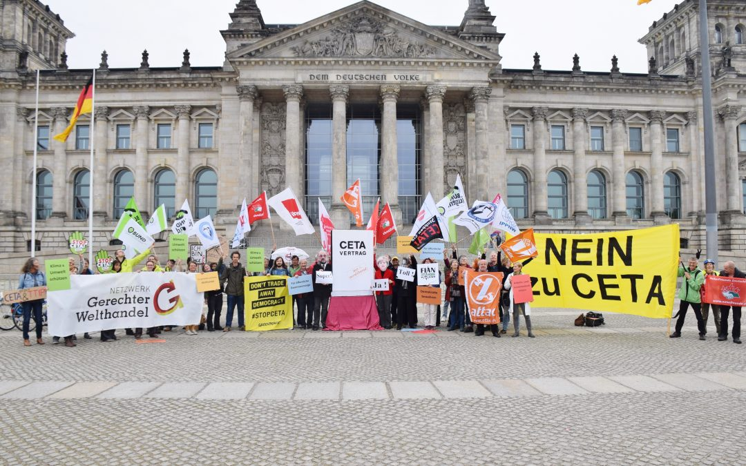 CETA: Ein Jahr vorläufige Anwendung – der Widerstand geht weiter