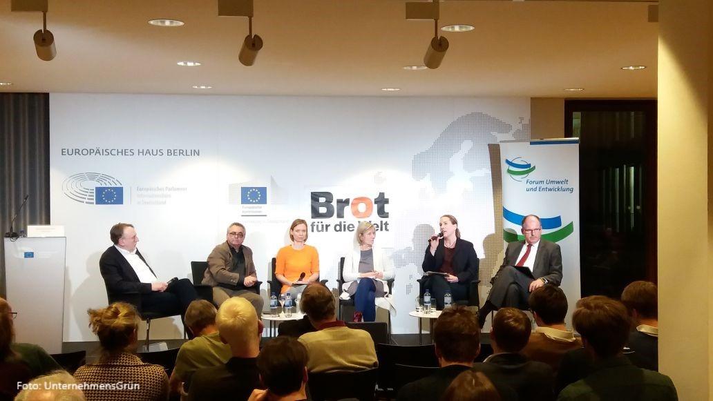 """""""Wird die EU-Handelspolitik jetzt nachhaltiger?"""" Bericht vom 18. Zivilgesellschaftlichen Außenwirtschaftsforum am 5.3.2018"""