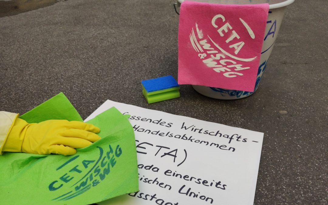 """Bundesweiter dezentraler Aktionstag am 12. Oktober 2019: """"Menschenrechte schützen – Konzernklagen stoppen!"""""""