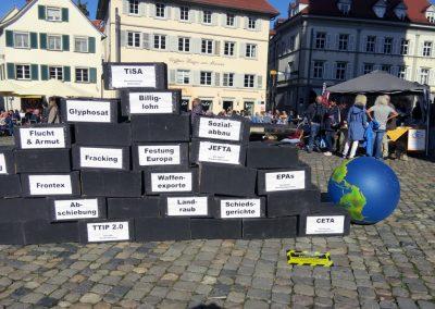 Aktionstag gegen Sonderklagerechte für Konzerne in Konstanz, 12.10.2019